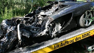 Illustration for article titled German McLaren MP4-12C Test Drive Ends In Fiery Crash