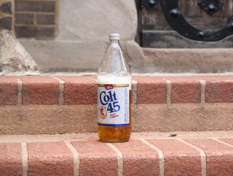 Illustration for article titled Half-Empty Bottle Of Colt 45 Left On Church Steps Must Be Offering To God