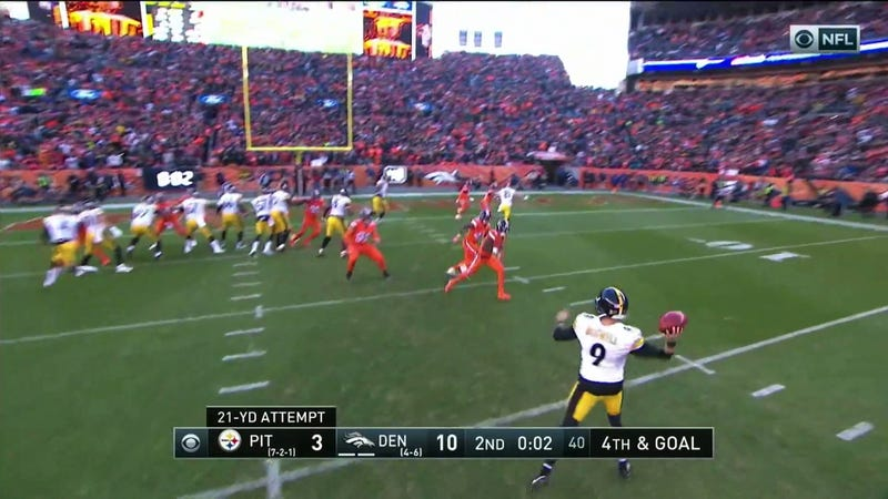 Illustration for article titled Steelers' Fake Field Goal Ends The Half With A Fat Guy Touchdown
