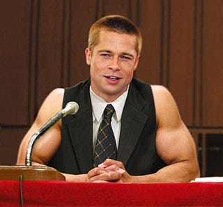Illustration for article titled Brad Pitt Called Before Congress To Testify About Bicep Regimen