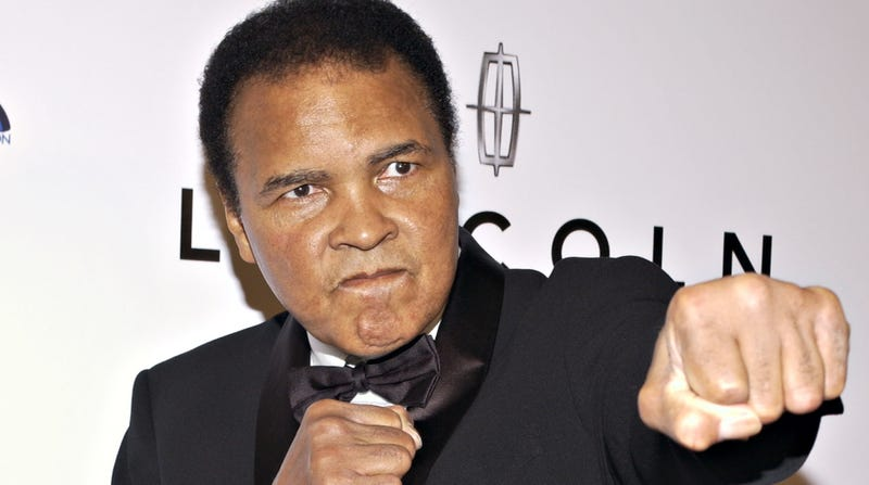 Boxer and honoree Muhammad Ali arrives at the 20th Annual 'Midsummer Night's Magic Awards Dinner' on July 13, 2005 in Los Angeles, California.