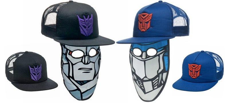 Illustration for article titled A Transformers Trucker Hat Mask Is the Easiest Halloween Costume