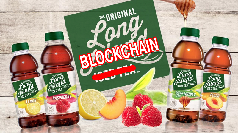 Iced tea company's stock shoots up after adding blockchain to its name