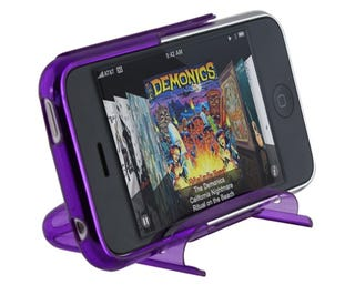 Illustration for article titled Speck SeeThru iPhone 3G Hard Case is its Own Movie-Viewing Stand