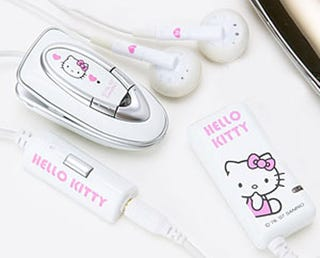 Illustration for article titled Hello Kitty Bluetooth Headphones So Cute They'll Make You Vomit