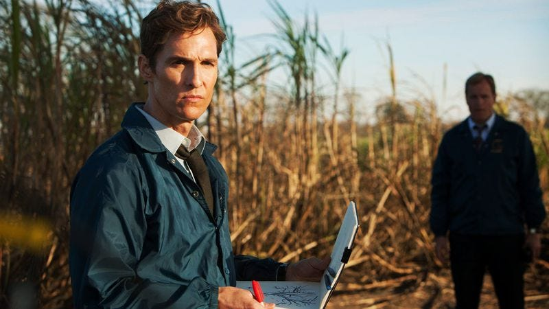 Matthew McConaughey (foreground) and Woody Harrelson in HBO's True Detective (Photo: HBO)