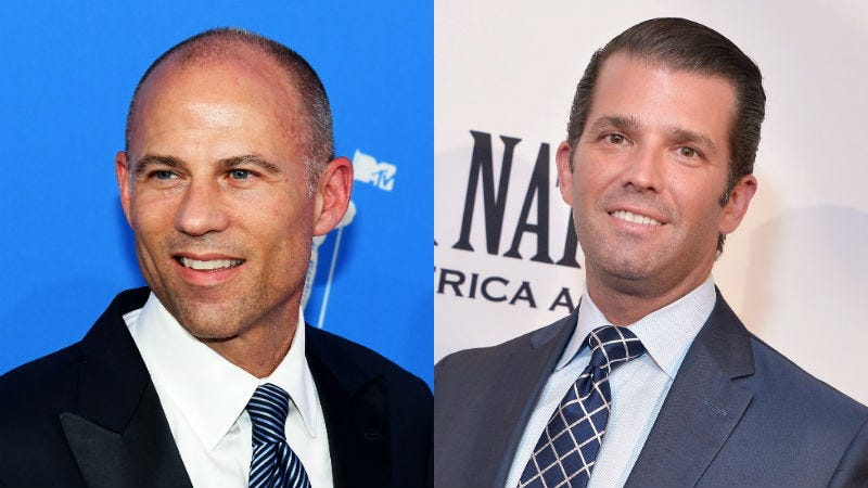 Illustration for article titled What Time Will Don Jr and Michael Avenatti Fight?