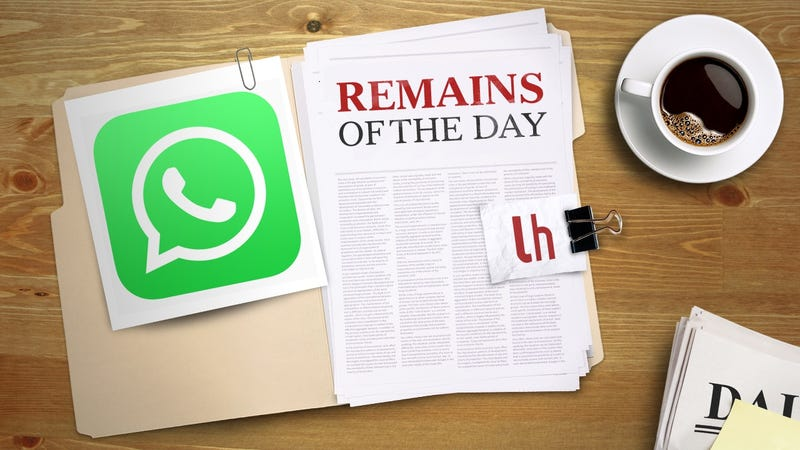 Illustration for article titled Remains of the Day: WhatsApp Doesn't Really Have a Secret Backdoor