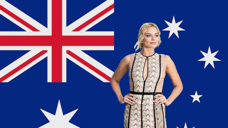 Illustration for article titled Australia Is 'Throwback America' the Way Margot Robbie Is Audrey Hepburn, So Not at All