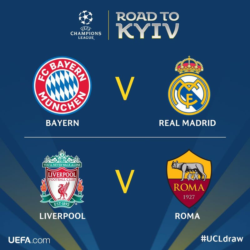 Illustration for article titled Here Are The Champions League Semifinal Matchups