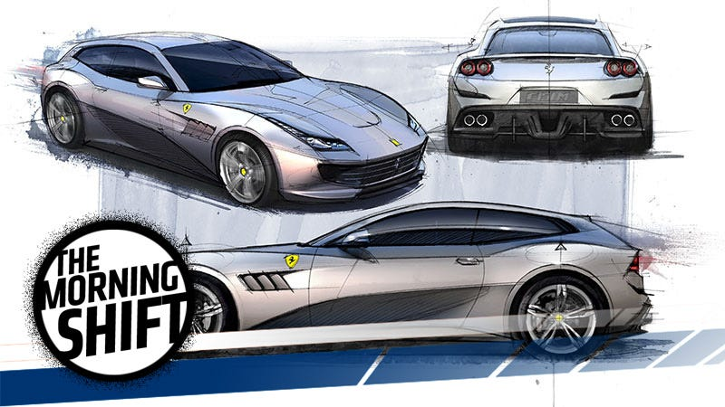 Design sketches of the current Ferrari GTC4Lusso. What, did you think this was as far as it'd go? Photo: Ferrari