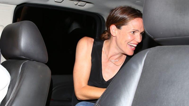 Jennifer Garner having the time of her life after dinner. Image via Backgrid.