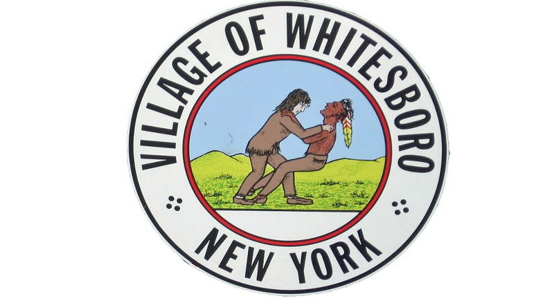 Illustration for article titled Village of Whitesboro Votes to Keep Racist Seal of White Man Strangling Native American Man