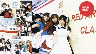 Illustration for article titled Snakes on a Plane? No, Japanese Maids on a Train!