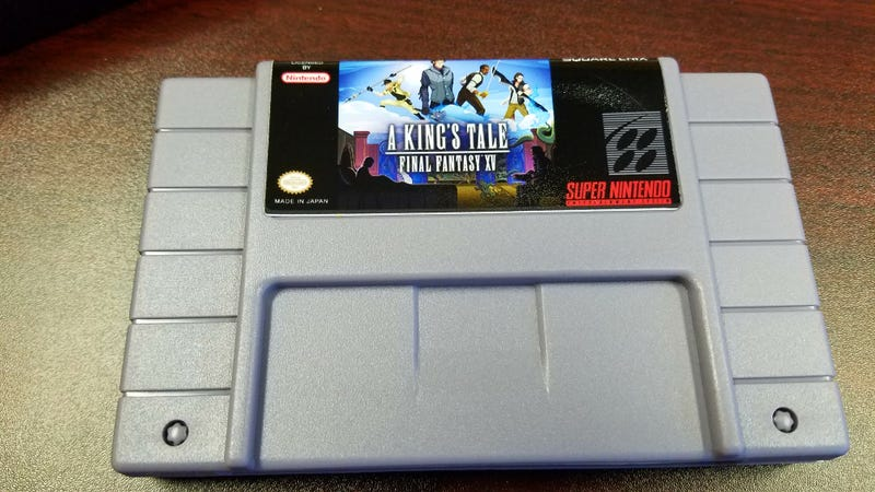 Illustration for article titled Square Enix Gave Sweet, Fake SNES Carts To King's Tale Staff