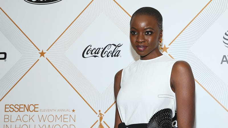 Danai Gurira attends the Essence 11th Annual Black Women In Hollywood Awards Gala on March 1, 2018 in Beverly Hills, California.