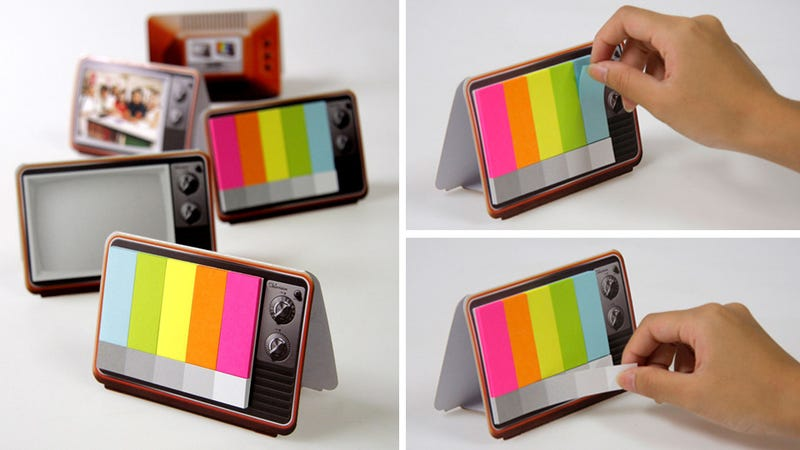 Illustration for article titled Color Bar Sticky Notes Remind You How Much You Miss TV