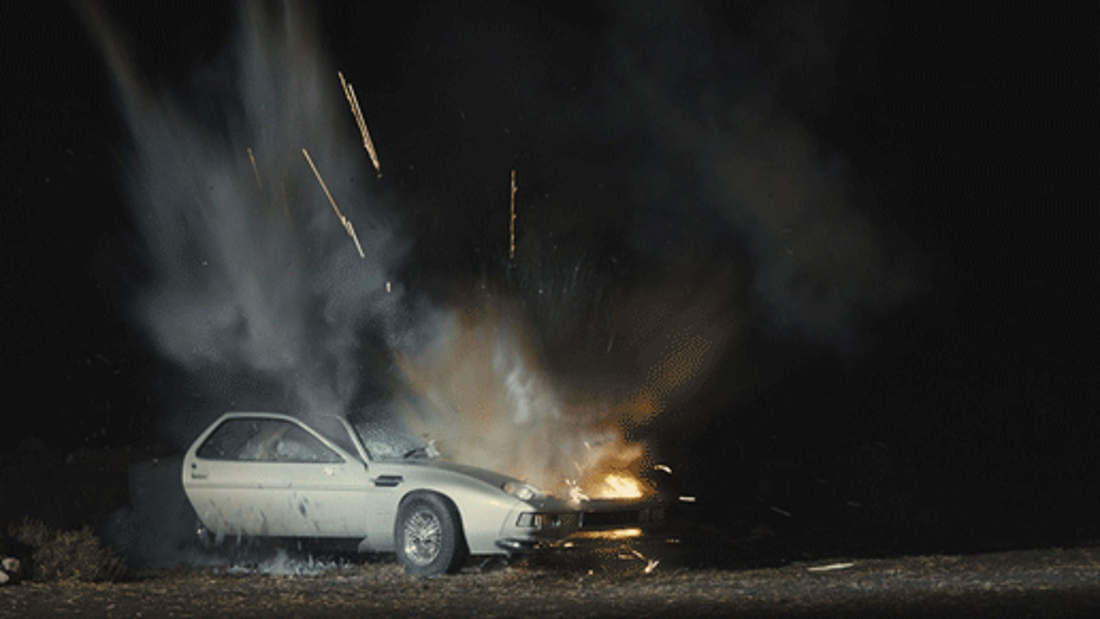 the aston martin db5 they blew up in skyfall was really an old porsche