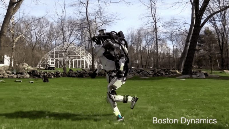 Oh Great, Boston Dynamics Has Unleashed Its Atlas Robot to the Great Outdoors