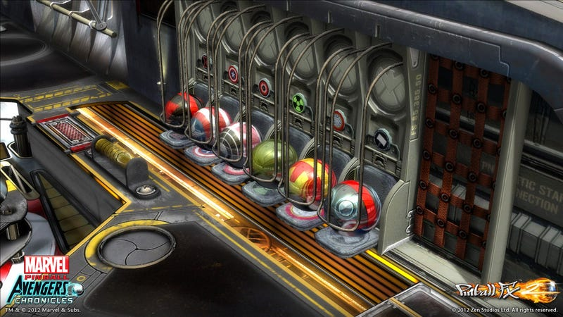 Illustration for article titled The Avengers Movie Pinball Table Transforms Earth's Mightiest Heroes into Six Shiny Spheres