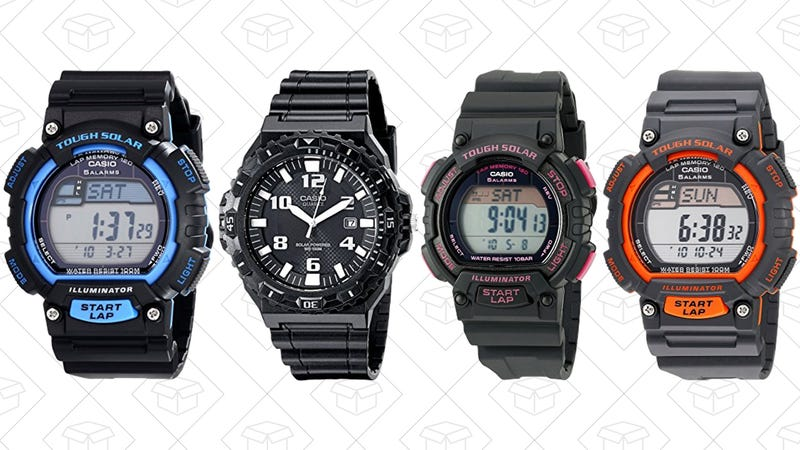 Up to 60% off solar-powered Casio Watches