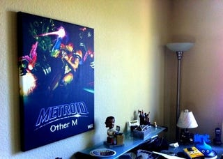 Illustration for article titled Metroid: Other M On Canvas, On The Wall