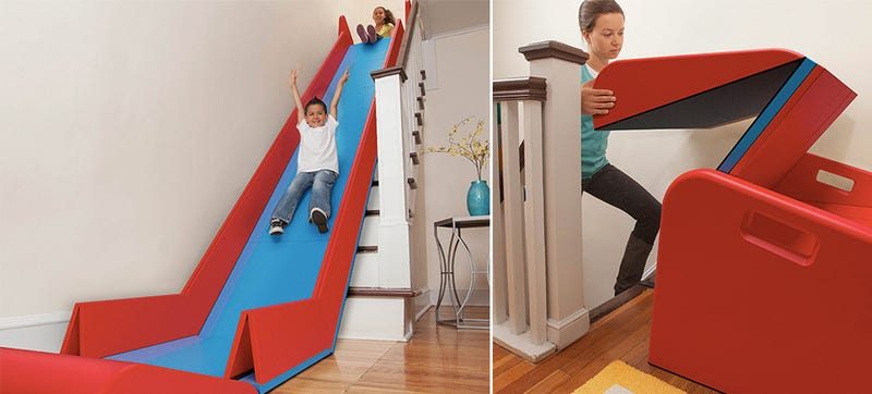 Delicieux Any Kid Lucky Enough To Live In A Two Story House Will Quickly Figure Out  How To Turn It Into An Indoor All Weather Slide. Whether Thatu0027s Using A  Piece Of ...