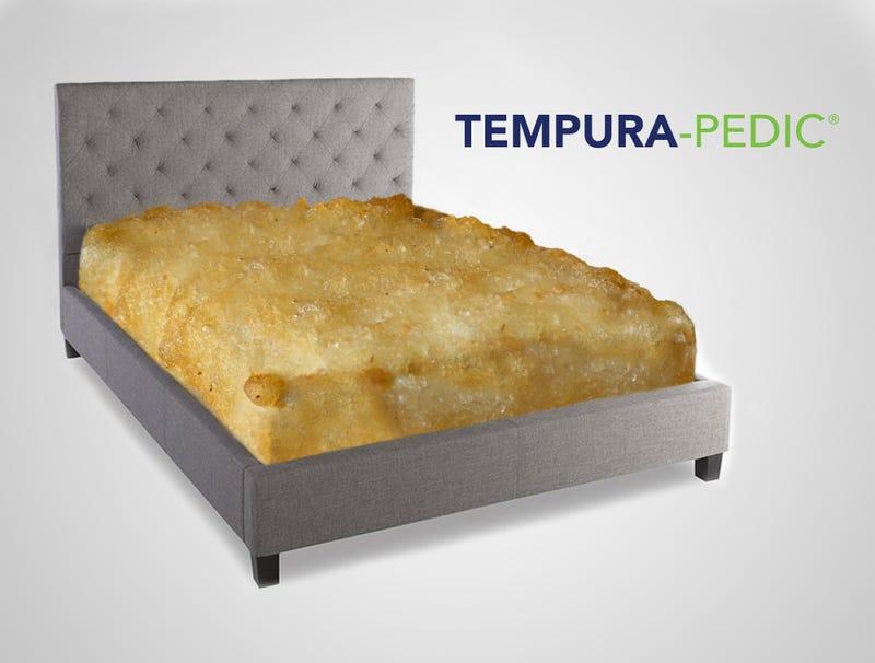 Illustration for article titled TempuraPedic Unveils New Line Of Extra-Crispy, Deep-Fried Mattresses