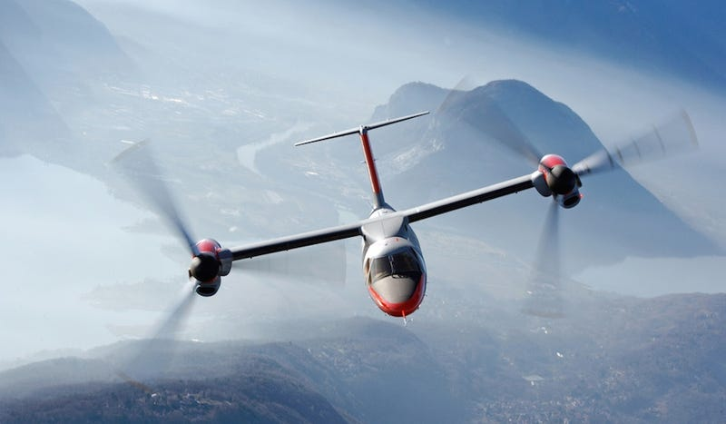 Illustration for article titled First Civilian Tilt Rotor Sets Speed Record