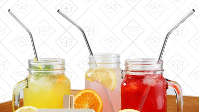 4-Pack Stainless Steel Drinking Straws, $6 with code MSSTRW20