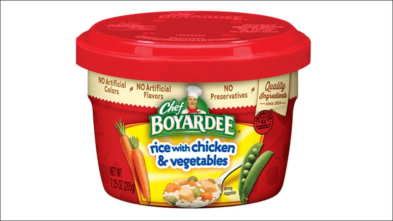 Illustration for article titled Chef Boyardee bowls recalled after mislabeling ravioli as chicken and rice