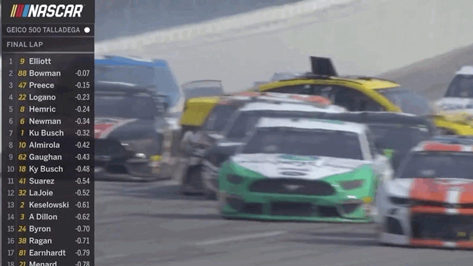 The Race-Ending NASCAR Caution at Talladega Wasn't for the Massive Last-Lap Wreck, It Was for Debris - Jalopnik