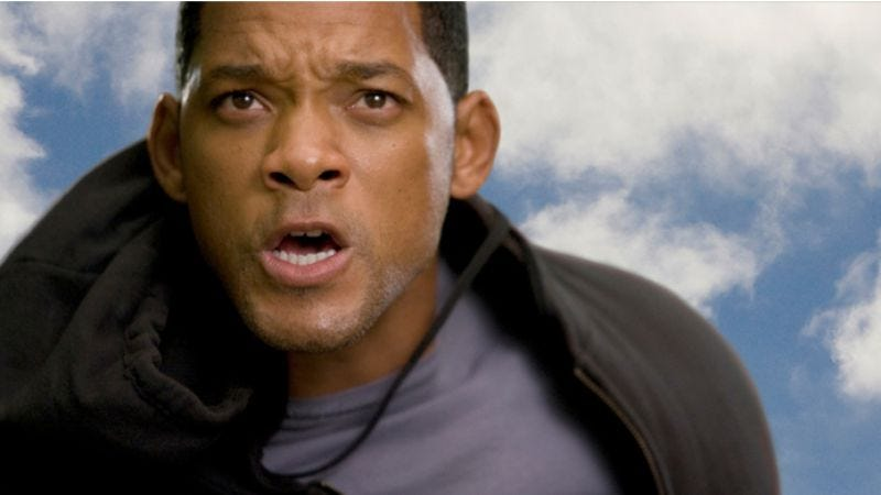 Illustration for article titled Watch the symbolic towing of Will Smith's giant-ass trailer