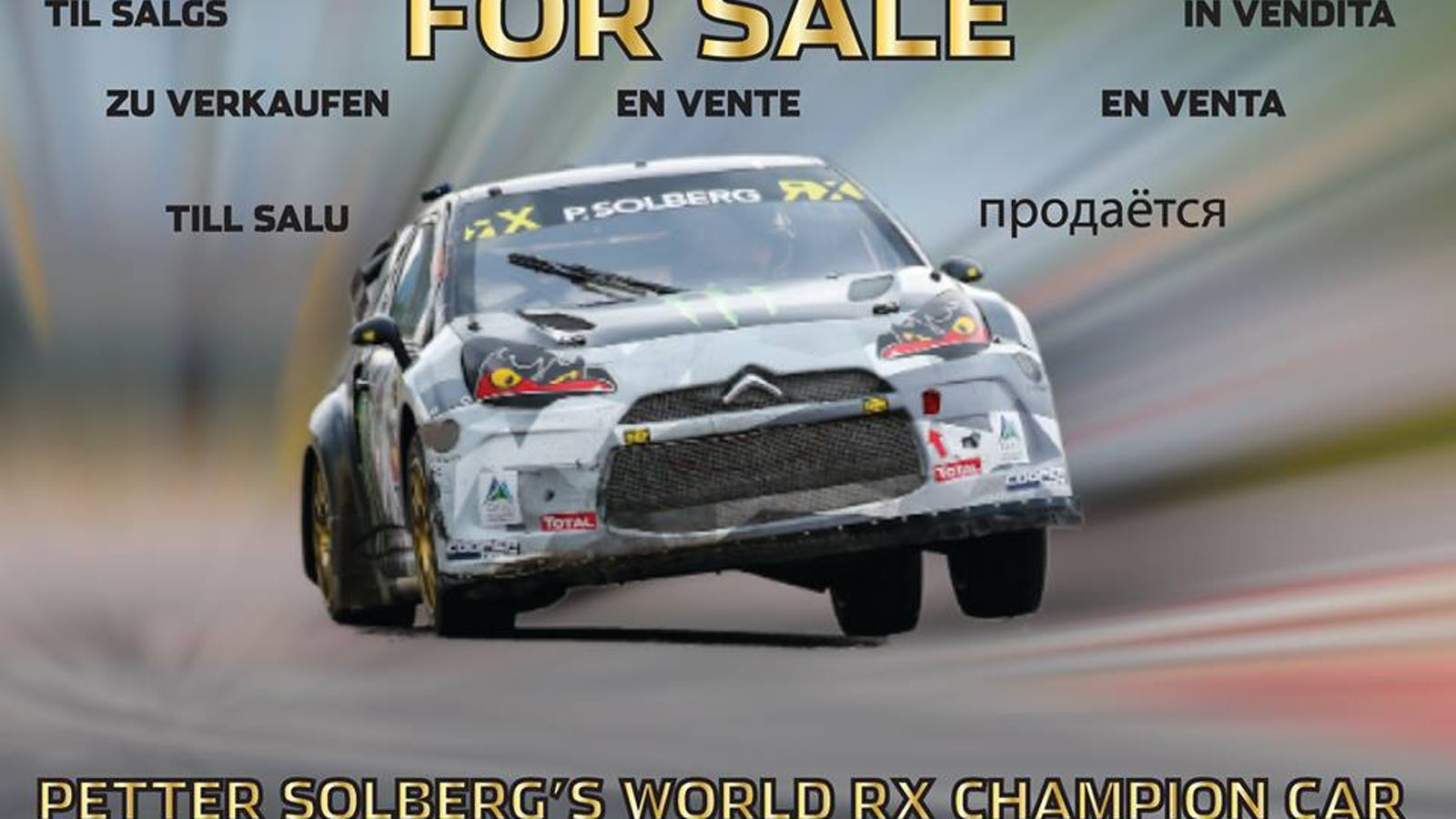 Petter Solberg Puts His Rallycross Citroën Up For Sale, Rejects ...