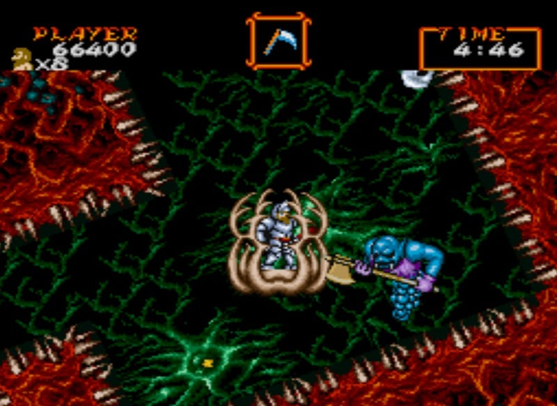 Illustration for article titled The Brilliant Use of Mode 7 InSuper Ghouls 'N Ghosts'Fourth Stage