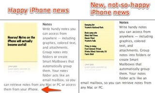 Illustration for article titled Leopard Loses iPhone Note Syncing