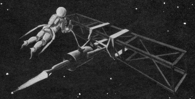 Illustration for article titled Space Taxis, Air Sleds and Skylabs: Retro-Space Concepts From 1961