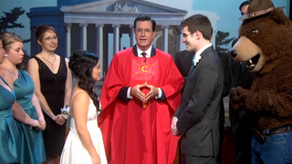 Illustration for article titled Stephen Colbert Hosted a Wedding and It Was the Sweetest Thing Ever