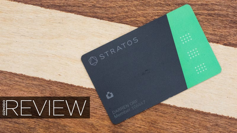 Illustration for article titled Stratos Card Review: This Smart Credit Card Is Still Too Dumb