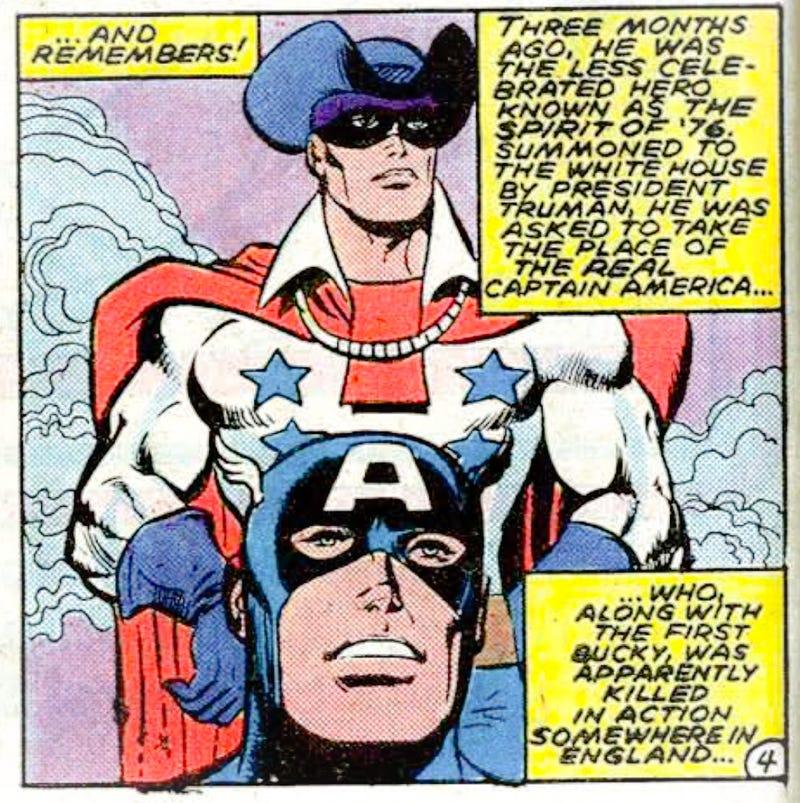 William Nasland sebagai Captain America