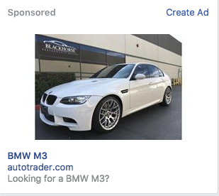 Illustration for article titled Since I like to car shop for cars I already have, targeted ads aren't very effective.