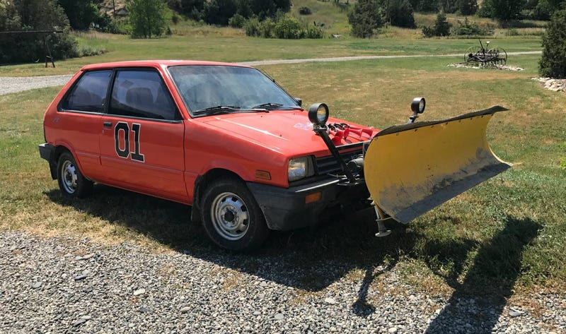 Illustration for article titled For $2,950, Would This 1988 Subaru Justy 4X4 Plow Have You Laughing At The Snow?