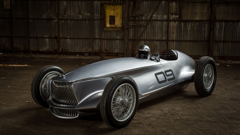 Illustration for article titled Infiniti's New Classic Grand Prix Racer Should Be Mocked But It's Too Damn Pretty