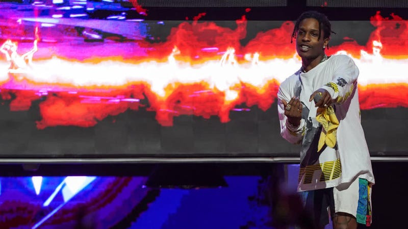 Happier days: A$AP Rocky performing in Singapore in April 2019