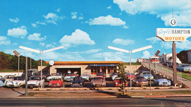 Illustration for article titled Proof used sports car dealerships were an amazing place to be in the early 1960s