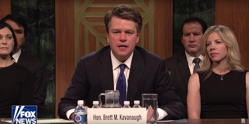 Illustration for article titled Matt Damon's Brett Kavanaugh cameo on SNL came together in just a couple hours