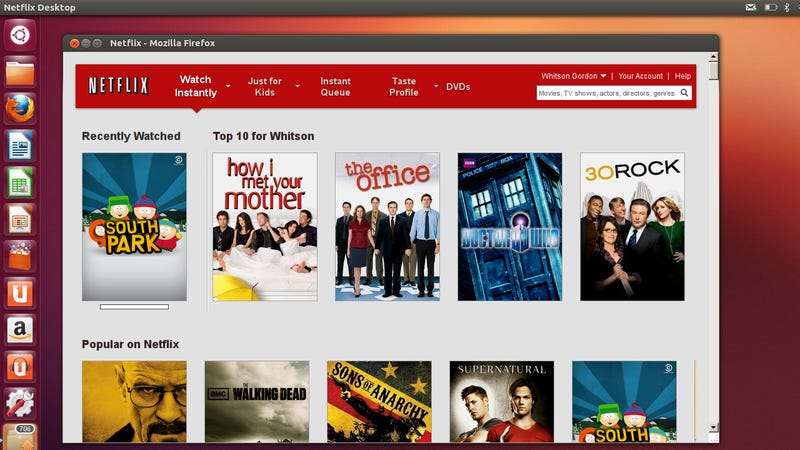 Illustration for article titled Netflix Finally Comes to Ubuntu in the Form of an Unofficial Desktop App