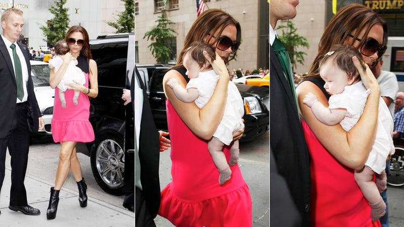 Illustration for article titled Victoria Beckham Carries Precious Cargo