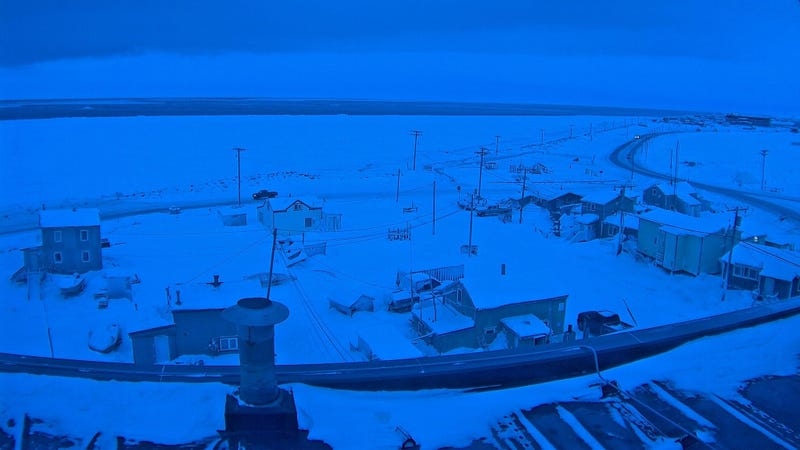 Open water emerged just offshore of Utqiagvik in the dead of winter last week.