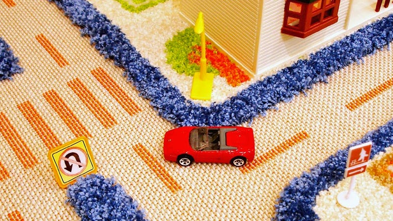 3D Carpet Playmats Keep Hot Wheels Cars Safely On The Road